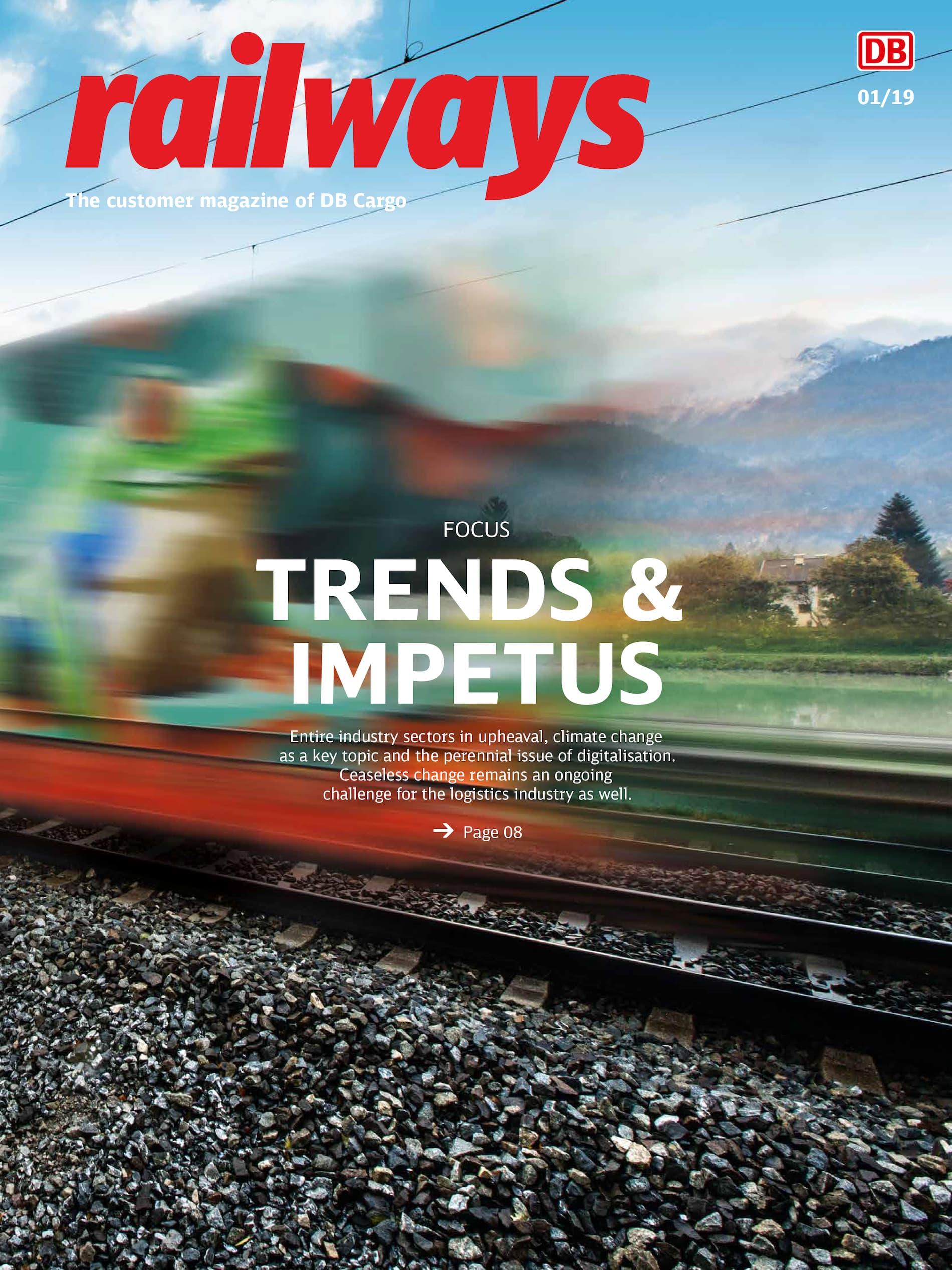 railways DB Cargo Kundenmagazin Cover 1-2019