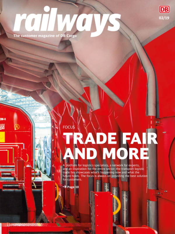 railways DB Cargo Kundenmagazin Cover 1-2019