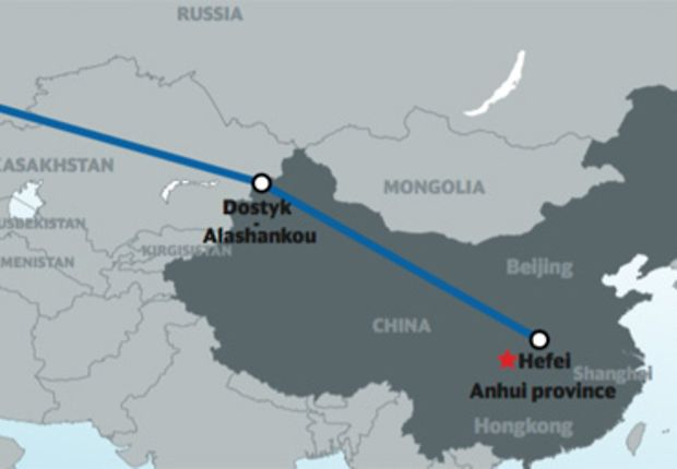 Rail transports from China to Germany