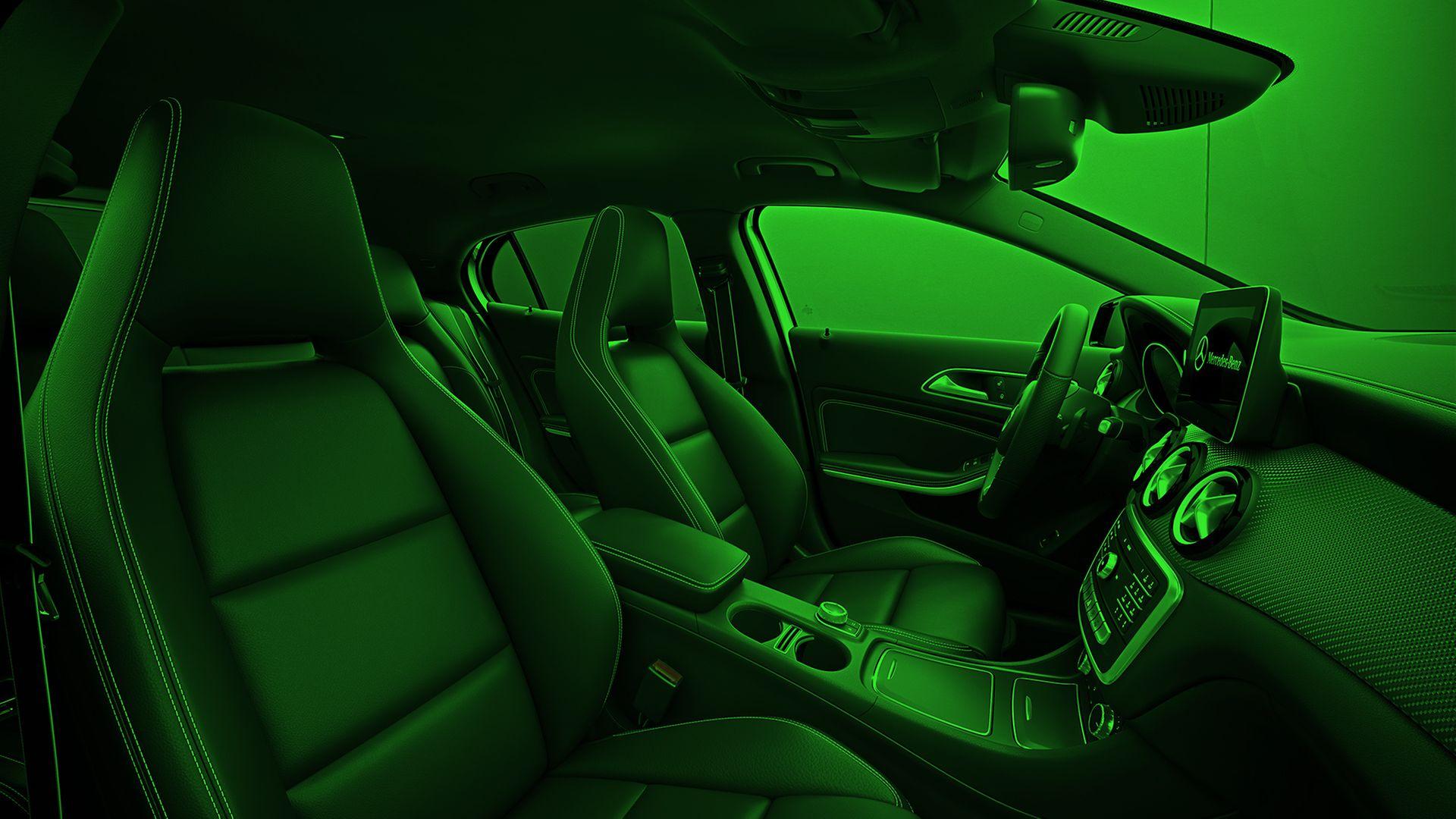 Innenansicht Mercedes Pkw eingefärbt