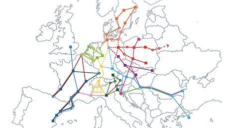 Europäische Netzwerkkarte